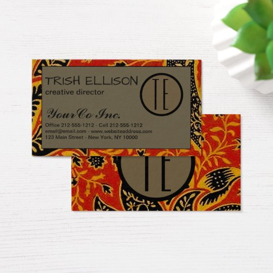 Business Card William Morris Custom Template art