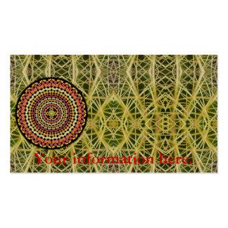 Business Card with Barrel Cactus Mandala 2