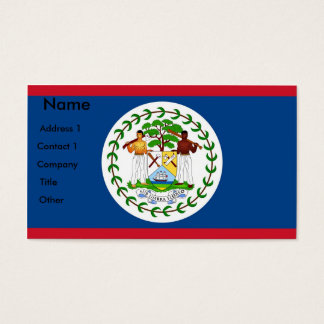 Business Card with Flag of Belize
