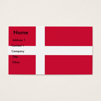 Business Card with Flag of Denmark
