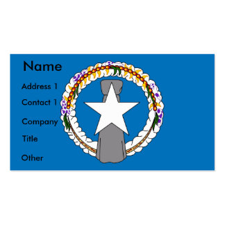 Business Card with Flag of Northern Mariana Island
