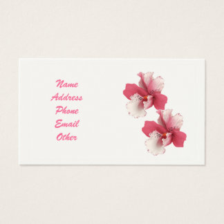Business Card with Flowers Orchids