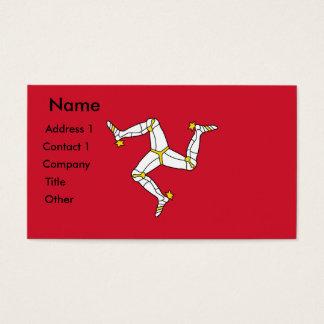 Business Card with Isle of Man Flag, U.K.