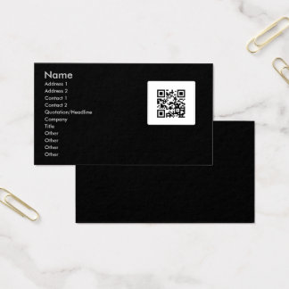 Business Card With QR