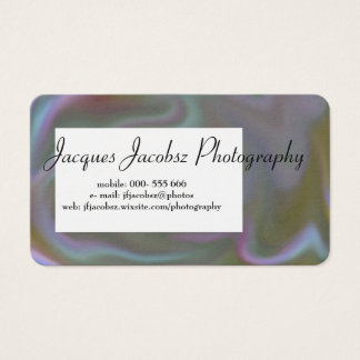 Business Card with Retro Tie Dye Background