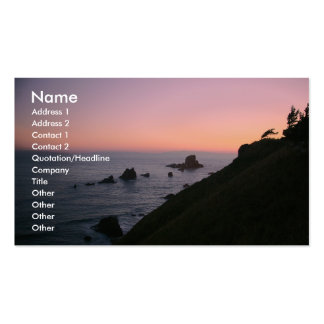 Business card with sunset photo ...