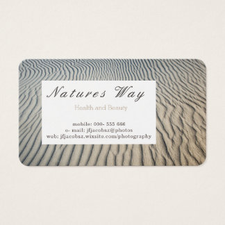 Business Card with textured sea sand background