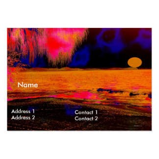 Business Card Yellow Sunset Business Cards