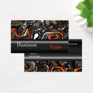 Business Card Zizzago Africa Abstract Orange