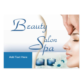 Business Card Zizzago Beauty Salon Spa Blue