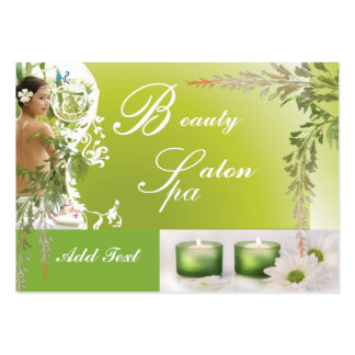 Business Card Zizzago Beauty Spa Salon Green