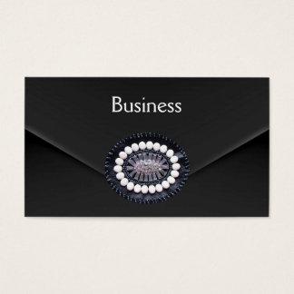 Business Card Zizzago Black Velvet Clutch Purse