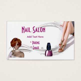 Business Card Zizzago Pink Nail Salon