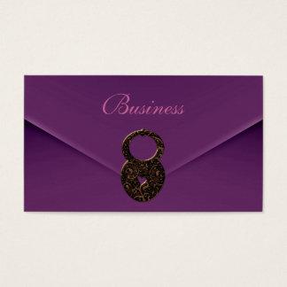 Business Card Zizzago Purple Velvet Envelope