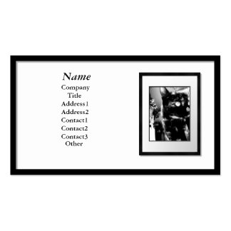 Business Cards - Black Picture Frame white mat
