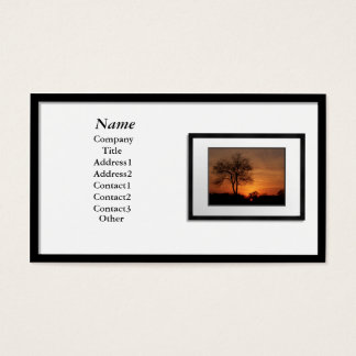 Business Cards - Black Picture Frame (white mat)