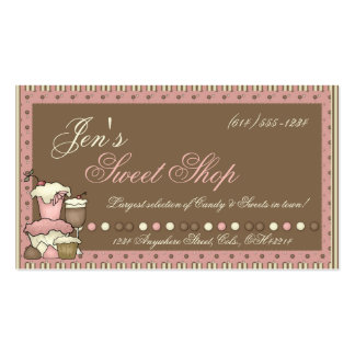 Business Cards Candy Cupcakes Sweet Shop
