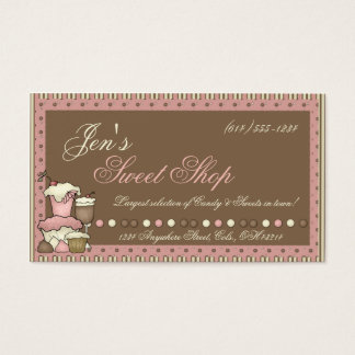 Business Cards :: Candy, Cupcakes & Sweet Shop