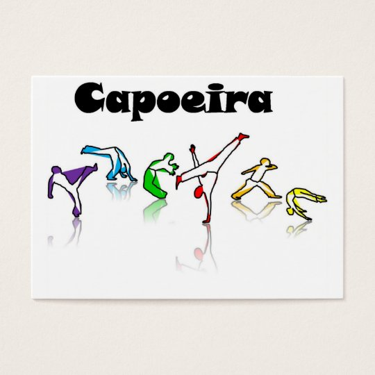 business cards capoeira rainbow