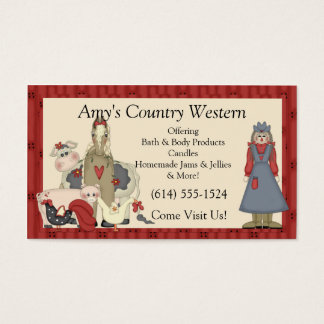 Business Cards :: Country Farm Girl & Animals