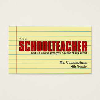 Business Cards for the Schoolteacher Humourous