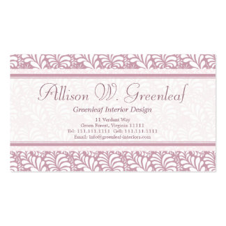 Business Cards Inspired by Arts Crafts Movement