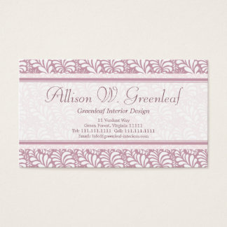 Business Cards Inspired by Arts & Crafts Movement