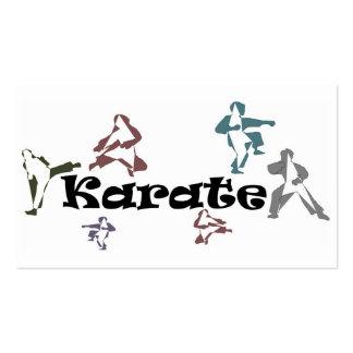 business cards karate black belt sensei