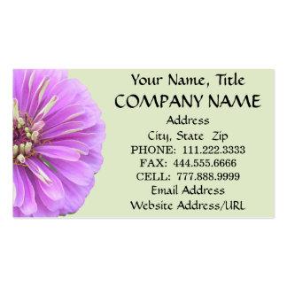Business Cards - Lilac Zinnia