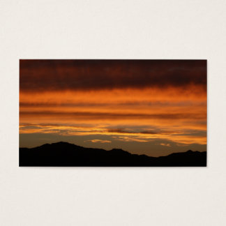Business Cards - PHOTOGRAPH OF ORANGE SUNSET