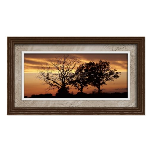 Business cards picture frame style 01 brown zazzle for Business card picture frame