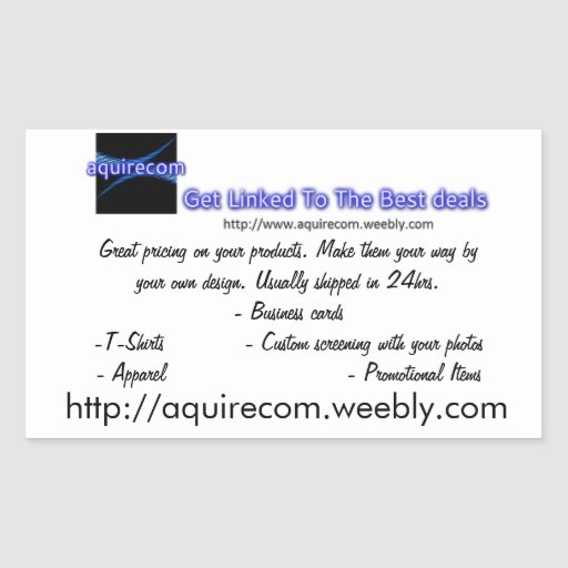 Business cards rectangular sticker zazzle for Business cards and stickers