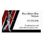 Business Cards :: Sexy Lady Black & Red Colours
