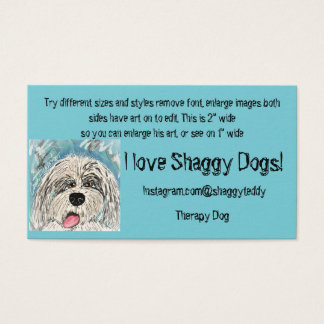 Business Cards Shaggy Collie Dog