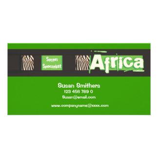 Business cards template - customize photo card