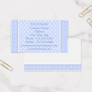 Business Cards - Wedgewood Blue Damask