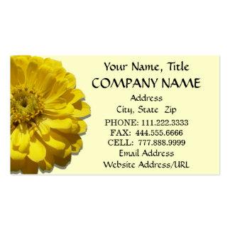 Business Cards - Yellow Zinnia