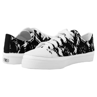 Business Casual Black&White Low Tops