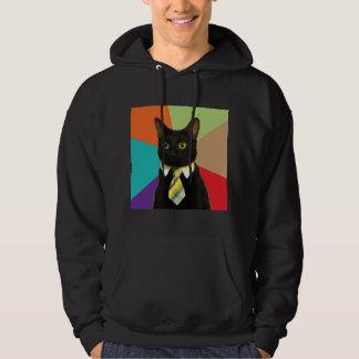 Business Cat Advice Animal Meme Hoodie