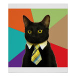 Business Cat Advice Animal Meme Posters