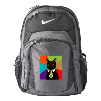 business cat - black cat backpack