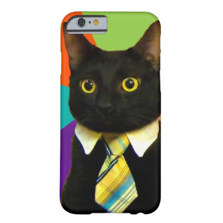 business cat - black cat barely there iPhone 6 case
