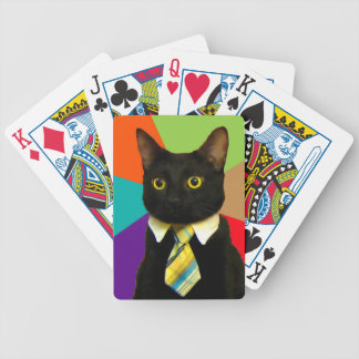 business cat - black cat bicycle playing cards