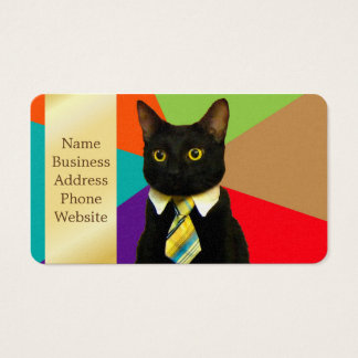 business cat - black cat business card