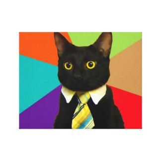 business cat - black cat canvas print