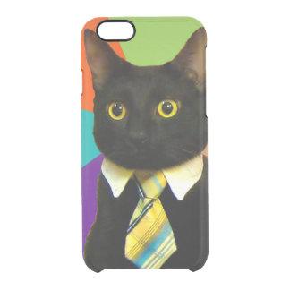 business cat - black cat clear iPhone 6/6S case