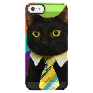 business cat - black cat clear iPhone SE/5/5s case