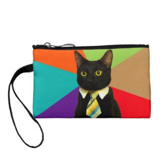 business cat - black cat coin purse