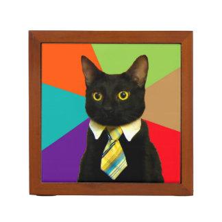 business cat - black cat desk organiser