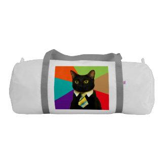 business cat - black cat gym bag